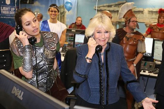Duchess of Cornwall at ICAP Charity Day