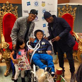 Ne-Yo at the Challengers Boys & Girls Club in South Central Los Angeles on December 3