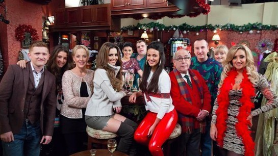 Cheryl Cole With Coronation Street Cast