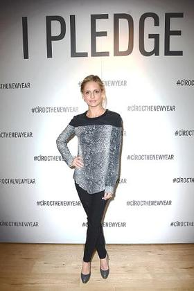 Sarah Michelle Gellar makes her pledge to help CIROC Vodka and Uber unlock $1 Million in safe rides at an event in Los Angeles.