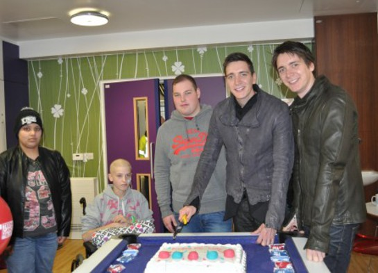James and Oliver Phelps With Teenage Cancer Trust