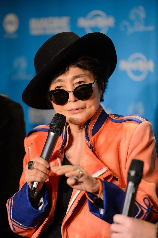 Yoko Ono Lennon appears at Hard Rock Cafe Tokyo on Thursday, December 5, 2013, to speak about her efforts to eliminate childhood hunger worldwide through Hard Rock's 6th annual IMAGINE THERE'S NO HUNGER campaign