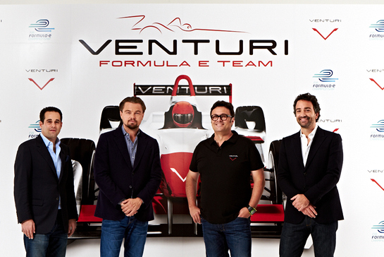 Venturi Automobiles and Leonardo DiCaprio enter a team in the new FIA Formula E Championship