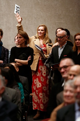 Uma Thurman at Tibet House Auction