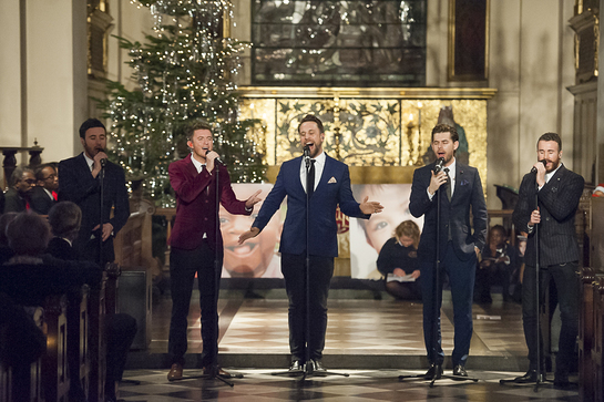 The Overtones at Operation Smile UK Carols By Candlelight event