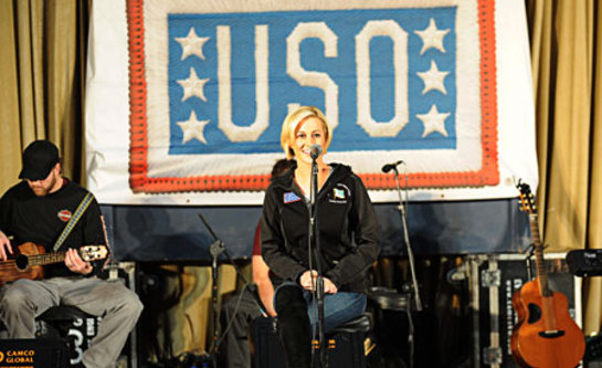 Pickler and her band performed for the troops on Dec. 21.
