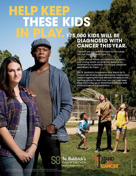 Samuel L. Jackson in the new PSA with St. Baldrick's Foundation and Stand Up To Cancer