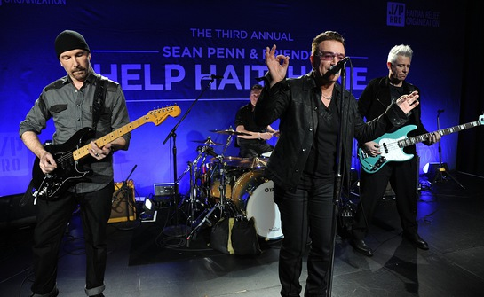U2 Performs at the 3rd Annual Help Haiti Home Gala