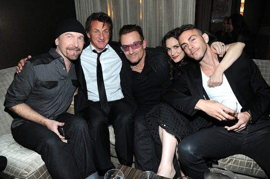 The Edge, Sean Penn, Bono, Winona Ryder and Asaf Avidan