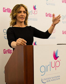 Angelica Fuentes at the Girl Up Leadership Summit