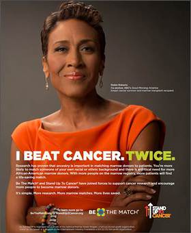 Robin Roberts participates in new PSA with Be The Match and Stand Up To Cancer