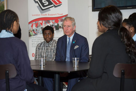 The Prince of Wales sits down with young people to discuss their views of Tottenham at the 639 Centre
