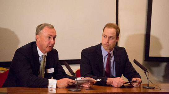 The Duke of Cambridge attends a symposium at ZSL