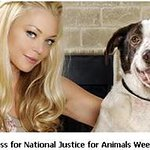 Charlotte Ross Supports National Justice For Animals Week