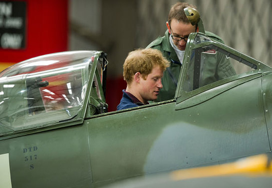 Prince Harry In A Spitfire