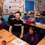 Michael Sheen Visits Hafod Primary School in Swansea With UNICEF