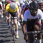 Cyclist Represents Elton John AIDS Foundation