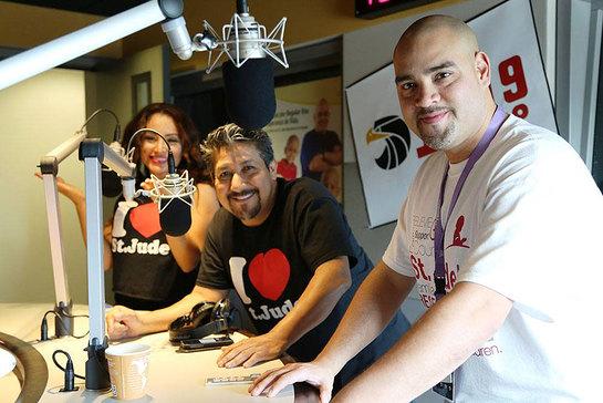 Raúl Molinar, Sylvia del Valle and Andrés Maldonado, from Univision National radio program El Bueno, La Mala y El Feo