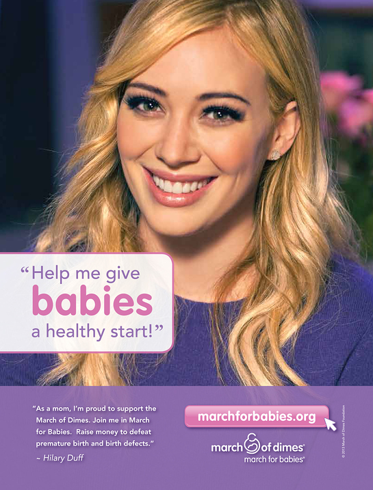Hilary Duff for March Of Dimes