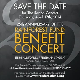 Rainforest Fund Benefit 2014