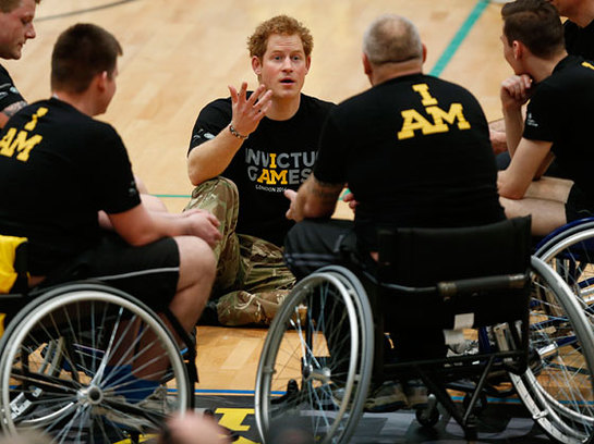 Prince Harry at the launch of the Invictus Games