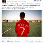 Cristiano Ronaldo Tweets Support For Syrian Children