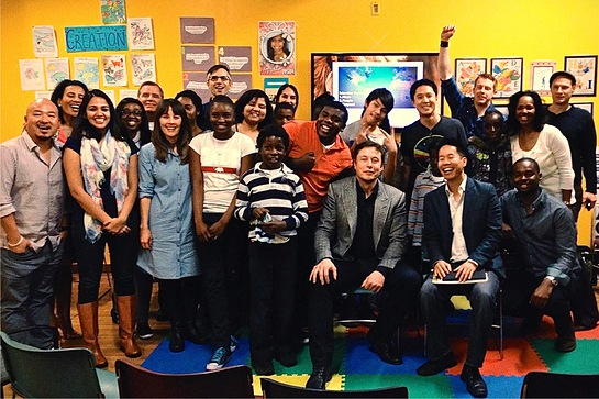 Elon Musk Visits Mondays at the Mission