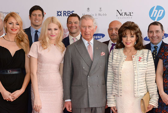 The Prince of Wales with celebrity ambassadors at The Prince's Trust Celebrate Success Awards