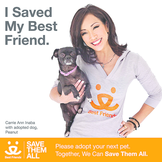 Carrie Ann Inaba supports Best Friends Animal Society