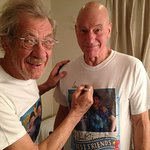 Sir Ian McKellen And Sir Patrick Stewart Help The Hungry