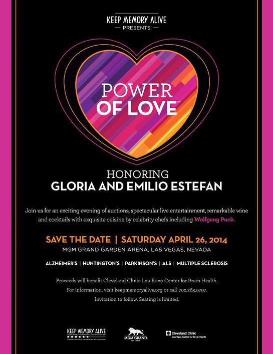 Keep Memory Alive presents Power of Love Gala honoring Gloria and Emilio Estefan