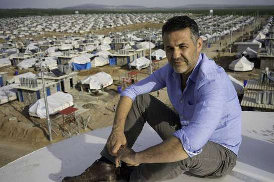 Khaled Hosseini gets a bird's eye view of Darashakran Refugee Camp