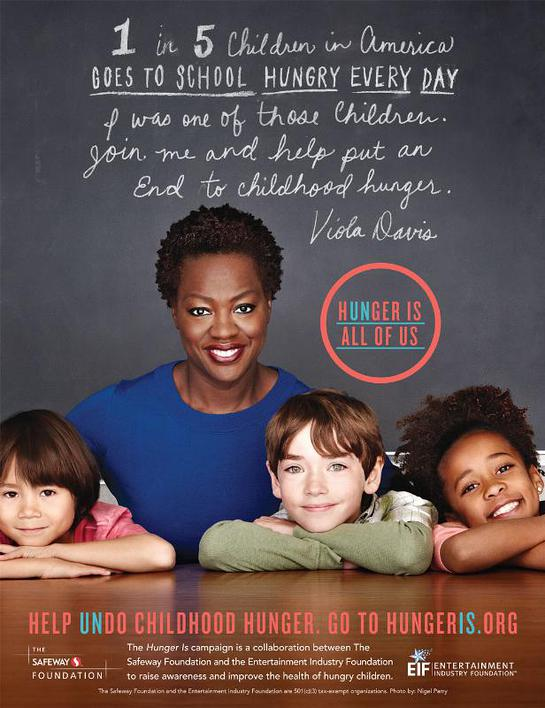 Viola Davis Joins Safeway Foundation and Entertainment Industry Foundation to End Childhood Hunger.