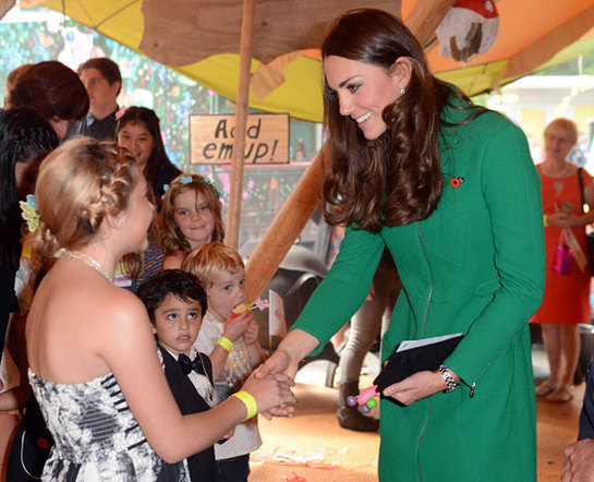 The Duchess of Cambridge visits the Rainbow Place Children's Hospice