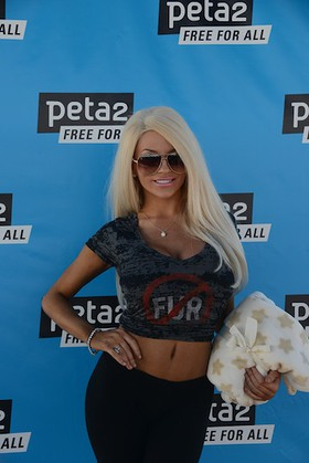 Courtney Stodden at PETA Event