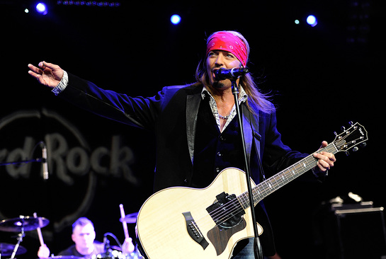 Bret Michaels Performs At Hard Rock Cafe New York