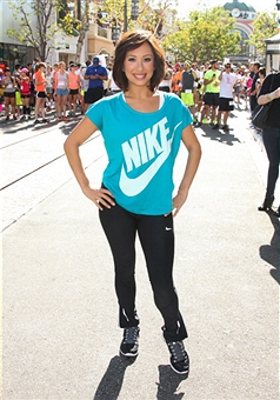 Cheryl Burke hosts We Run The Grove at The Park at The Grove on April 26