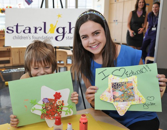 Bailee Madison at Mattel Children's Hospital UCLA