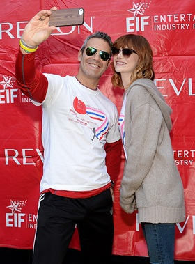 Emma Stone and Andy Cohen - Selfie Time at the 17th Annual EIF Revlon Run/Walk for Women in New York
