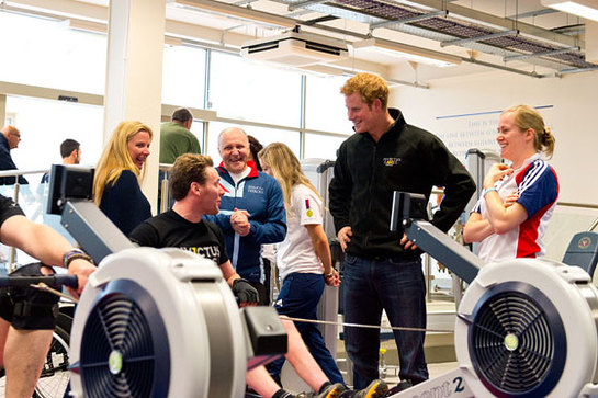 Prince Harry meets wounded service personnel competing for a place in the Invictus Games