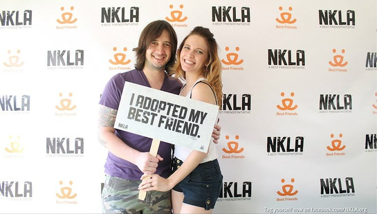 Nick Wheeler of the band All American Rejects attended Best Friends Animal Society's NKLA Adoption Weekend with girlfriend Cheyenne Conrady