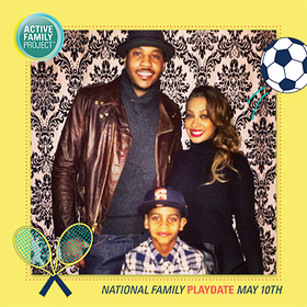 Lala Anthony - Active Family Project's National Family Playdate
