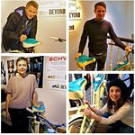Elijah Wood And Maggie Gyllenhaal Sign Bike For Charity Auction