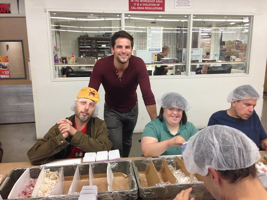 Brant Daugherty visits the New Horizons workshop in the San Fernando Valley