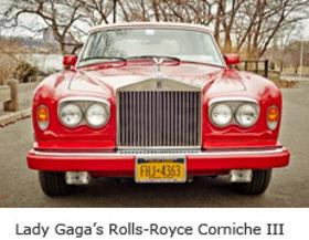 Lady Gaga's Rolls Royce