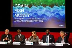 Peter Eigen, Kofi Annan, Caroline Kende-Robb, Tidjane Thiam and Bob Geldof