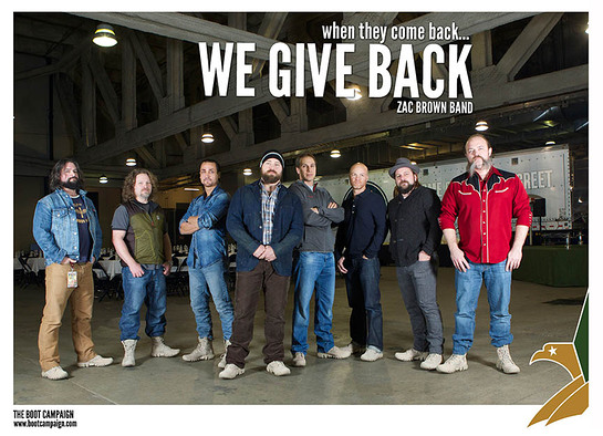 Zac Brown Band Supports Boot Campaign