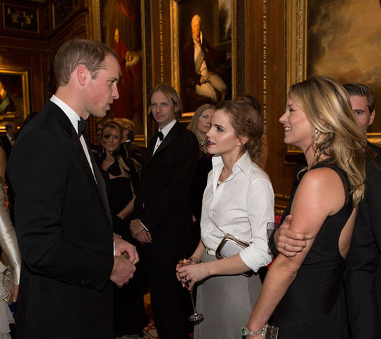 The Duke of Cambridge meets Emma Watson and Kate Moss