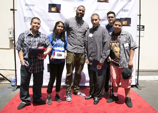 The Game with kids on the Red Carpet