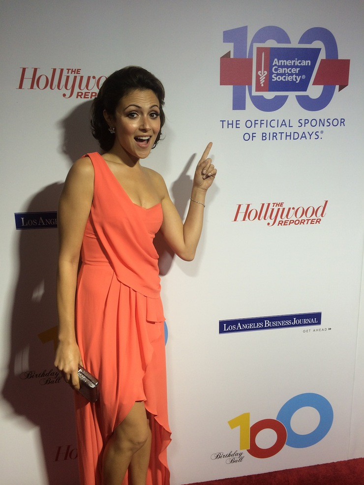 Italia Ricci at American Cancer Society Ball